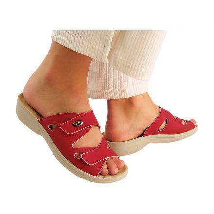 Komfort papucs piros