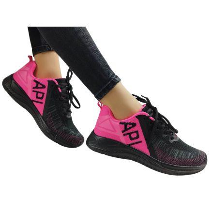 APL fekete-pink_sportcipő