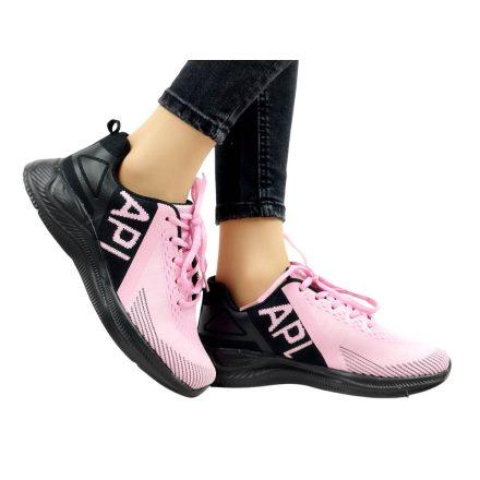 APL fekete - rózsaszín sportcipő