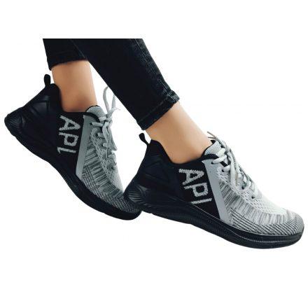 Apl-szürke,fekete sportcipő